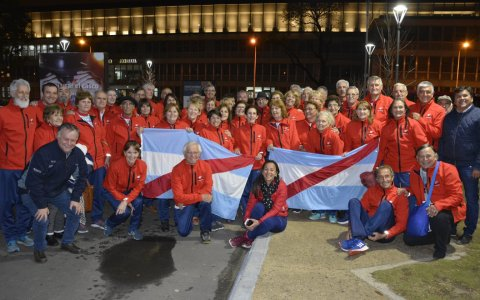 La delegación entrerriana de los Juegos Evita de Adultos Mayores rumbo a Pinamar