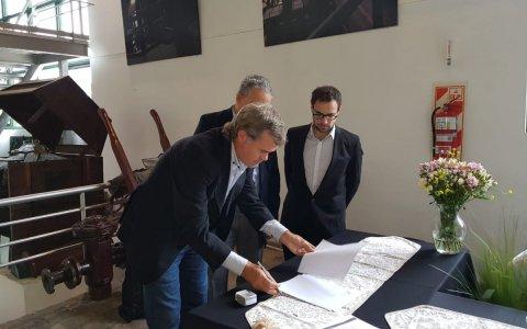 Trabajo con la dirección nacional de Agua Potable: Piaggio firmó el Plan de Gestión y Resultados