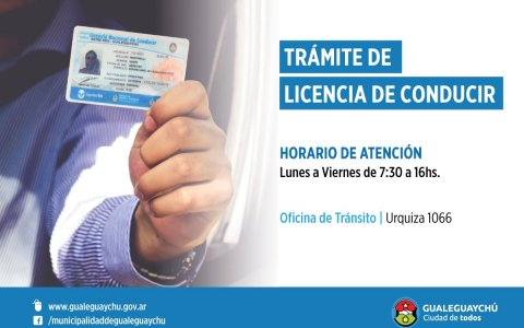 ¿Dónde y en qué horarios puedo obtener la Licencia de Conducir?
