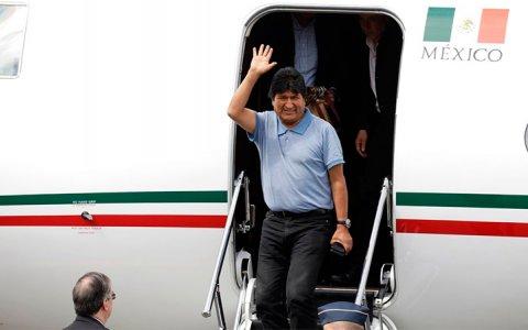 Evo Morales llegó a México como asilado político