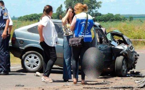 Dos personas murieron tras choque frontal sobre la Ruta 38