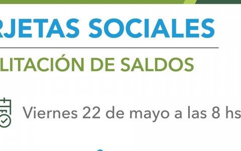 Este viernes se acreditarán las tarjetas sociales