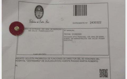 El Gobierno provincial ratificó en el cargo a Piaggio al frente del Hospital por un año ad-honorem