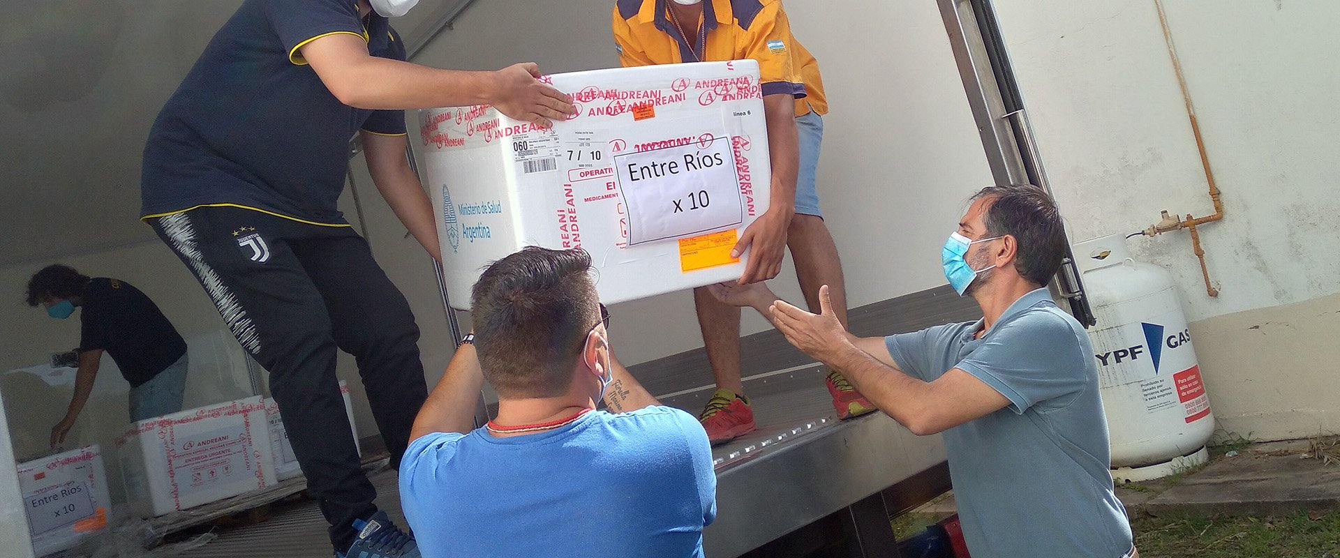 Llegaron a Entre Ríos 5.000 dosis del segundo componente de la vacuna contra Covid-19