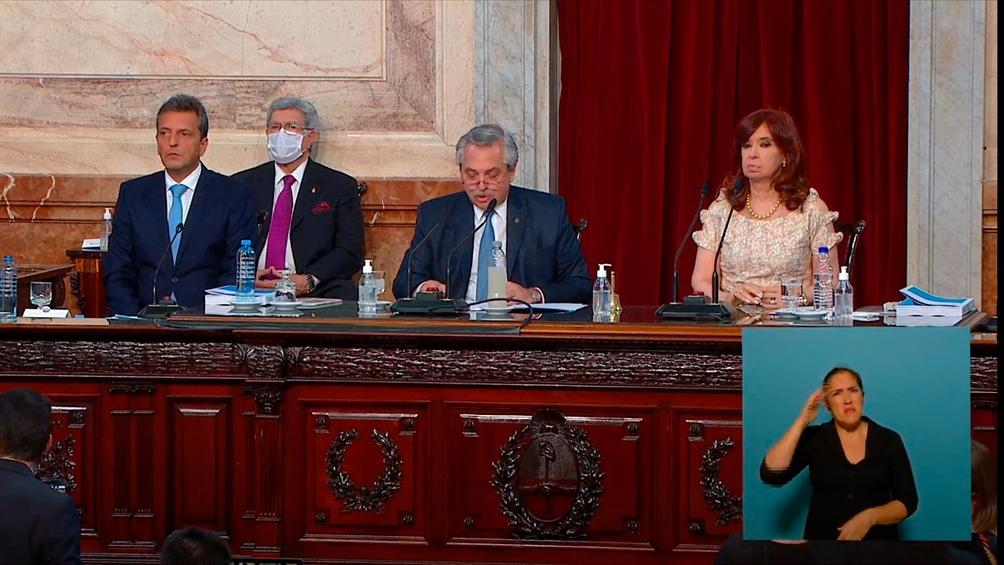 """Alberto Fernández: """"Vengo a este Congreso con mis convicciones intactas"""""""