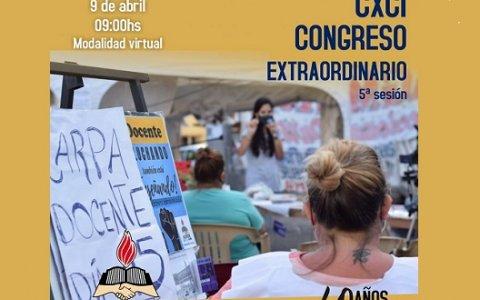 Agmer convocó a Congreso Extraordinario para este viernes