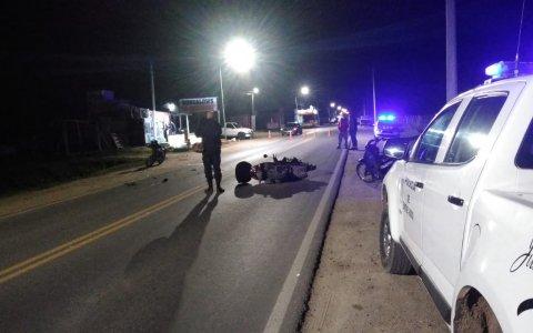 Pueblo Belgrano: chocaron dos motos y sus conductores sufrieron lesiones leves