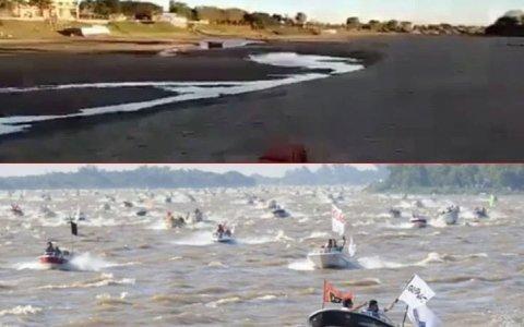 Corrientes: Se secó el riacho donde se largaba la Fiesta Nacional del Surubí