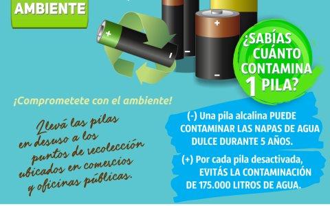 El Municipio de Pueblo Belgrano contientiza sobre el uso de pilas y baterías
