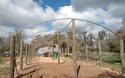 Avanza la ampliación del vivero municipal en el Parque Unzué