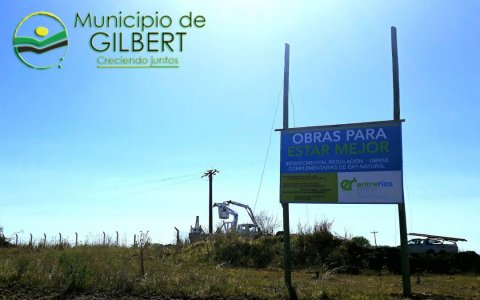 Comenzó la obra de distribución de gas natural en Gilbert